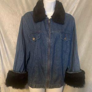 Blue J denim jacket, large